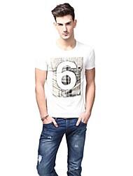 Summer Casual col rond de mode T-shirts blancs de U-requin hommes Sauvegarde shirt EOZY