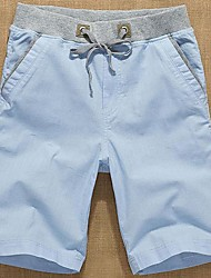Men's Shorts , Casual Linen