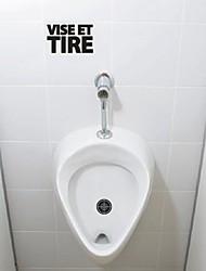 Stillleben zielen und schießen WC Verfasst Wandsticker