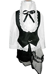 Inspiré par Black Butler Ciel Phantomhive Anime Costumes Cosplay Costumes Cosplay Mosaïque Blanc / NoirVeste / Chemisier / Shorts /