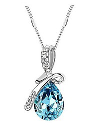 Jewelry,Necklace, Classic (Angel Tears) Platinum-Plated Crystal Necklace