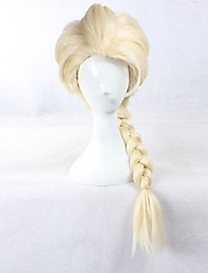 Frozen Princess Elsa Light Golden Cosplay Wig