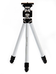 Fotopro FY-683 Stainless Steel Retractable Portable Tripod for Digital Camera(White)