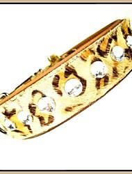 Couro ajustável Czeckh Cristal Colar de luxo para animais de estimação Cães (tamanhos variados)