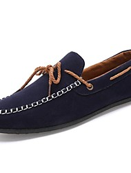 Men's Shoes Outdoor/Casual Faux Leather Boat Shoes Black/Blue/Navy