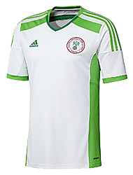 Men's SoccerJersey Short Sleeves White and Green