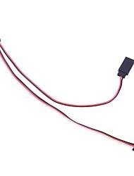 Mini USB para saída AV Cable w / Entrada Externa 5V Power Supply - preto + vermelho + branco (20cm)