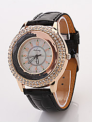 Cdong Moda Diamante Ladies Watch (nero)