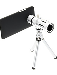 Zoom 12X Telephoto Metal Cellphone Lens with Tripod for HTC M7