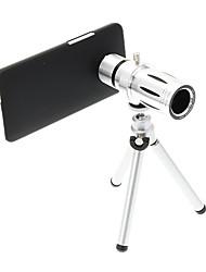 Zoom 12X Teleobjetivo metal Celular lente con el trípode para HTC M7