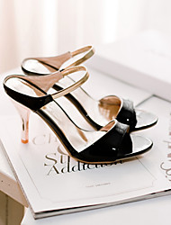 ANXY Women's Peep-Toe  Mid Heel Sandals X-1