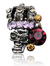 5PCS Noble Skeleton Women Design Rhinestone Studded Nail Art Decorations