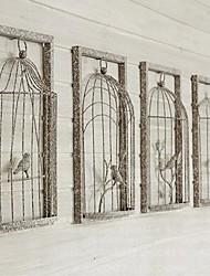 décoration murale en fer forgé pays cage vieux effet vintage tenture