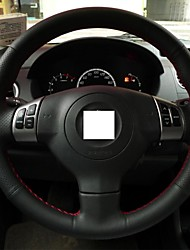 XuJi ™ Black Genuine Leather Steering Wheel Cover for Suzuki Swift