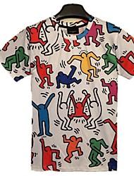 mannen zomer harajukustijl dier religous 3D printen met korte mouwen t-shirt