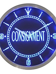 nc0428 Consignment Service Display Decor Neon Sign LED Wall Clock