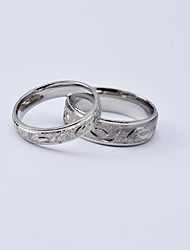 Beautiful Engraving Scrub Titanium Steel Couple Rings Promis rings for couples