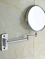 weiyuwuxian® 360 degrés de rotation loupe 3x 8 pouces en laiton massif miroir de maquillage