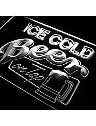 i912 Ледяное разливное пиво Бар знак неонового света