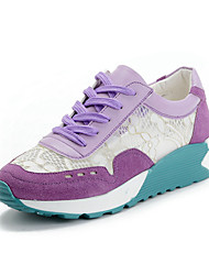 VXVF Women's Korean Casual Breathable Cozy Thick Heel Shoes(Purple)