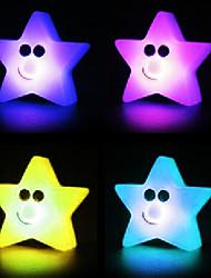 Estrella Rotocast cambian de color de luz de la noche (color al azar)