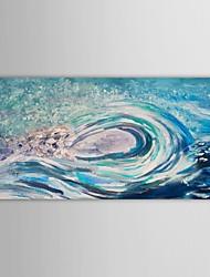 iarts®hand pintura a óleo pintado azul do mar rolando onda branca com moldura esticada