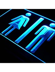 WC I219 Washrooms Restrooms Exibição Luz Neon Sign