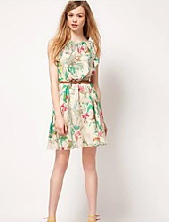 The One & Only Women's  New Style Chiffon Floral Print Dress D614A9942