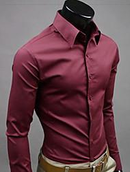 z & s Herrenhemdkragen einfarbig Langarm-Shirt