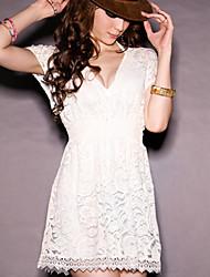 Saiwei blanc pur robe t-shirt femmes
