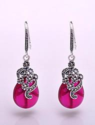 AS 925 Silver Jewelry    Beautiful Hong Gangyu Earrings