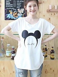 3Color Breve Short Sleeve Plus Size Maternità e gravidanza Donna T Shirt Estate