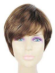 Capless Synthetic Short Straight Synthetic Wigs