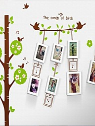 Photo Frame Set of 8 with The Bird Wall Sticker