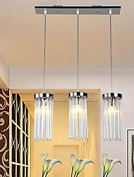 Modern luminária 3 luzes cromo prata do metal