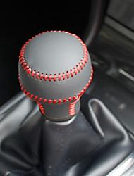 XuJi ™ Black Genuine Leather Gear Shift Knob Cover for Mitsubishi Lancer EX Manual Transmission