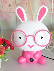 MT001 Night Light Cartoon Rabbit Pink Plastic Resin