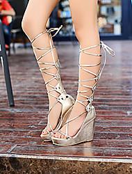 Wool Women's Wedge Heel Wedges Sandals Shoes(More Colors)