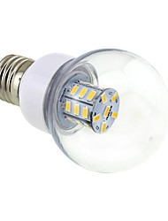E26/E27 4W 27 SMD 5730 500 LM Warm White G60 LED Globe Bulbs DC 12 / AC 12 / AC 24 / DC 24 V