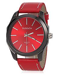 Damen Modeuhr Armbanduhr Quartz Band Schwarz Weiß Rot Braun Weiß Schwarz Braun Rot Silberschwarz