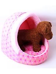 Lefdy Pet Supplies économie chaussons rose en forme de coeur de pêche Doghouse 40 * 38