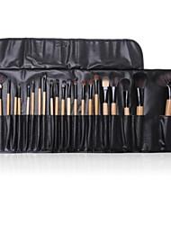 24pcs pincéis de maquiagem sobrancelha cosméticos escovas lábio Jogo da sombra com caso
