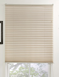 Elegant Light Brown Solid Eco-friendly Pleated Shade