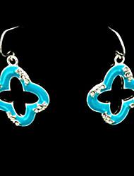 Frozen Elsa Queen Deluxe Blue Alloy Flower Earrings Cosplay Accessory