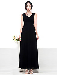V Neck vestido de seda das Junce mulheres com cor aleatória Belt