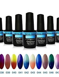 12pcs Mingshan 15ml caméléon qui change de couleur Couleurs Gel UV Mix polonais No.37-48 Couleur Gel Set