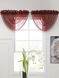 "(One Piece) rouge gracieux massif Cascade Valance - 31W x 25 ""L"