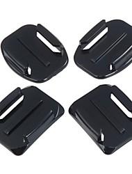 Fixe Surface Mount plat Camber Super Glue pour Gopro Hero 1/2/3/3 + (4pcs)