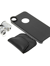iPhone 5/S Cell Phone Case and 60 Times Magnifying Lens in Set