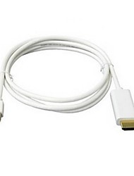 6ft 1.8M White Mini DisplayPort-DP-naar-HDMI-adapter kabel voor Apple MacBook